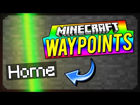 How To Make Waypoints In Minecraft