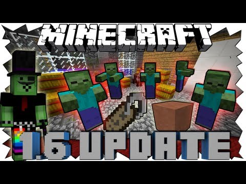 Minecraft 1.6 UPDATE - ZOMBIE APOKALYPSE!!! - Snapshot 13w17a Review [Full-HD Deutsch]