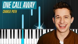 "Charlie Puth - ""One Call Away"" Piano Tutorial - Chords - How To Play - Cover"