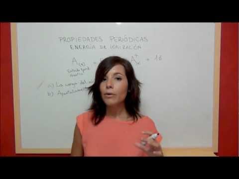 QUIMICA Propiedades periódicas - Energía de ionización o potencial de ionización