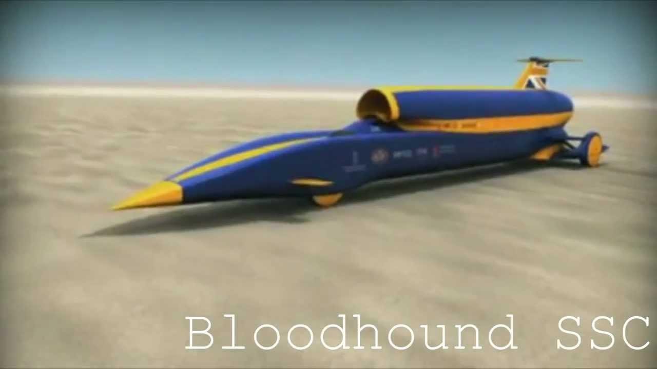 Bloodhound Ssc 1500 Km H Rocket Car Youtube
