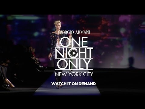 Giorgio Armani One Night Only in New York City