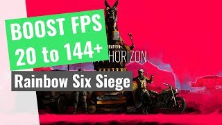 [2019] Rainbow Six Siege - How to BOOST FPS and increase performance on any PC!