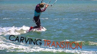 Carving Turns / Transitions (twintip kitesurf / kiteboard tutorial)