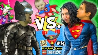 BATMAN vs. SUPERMAN! Lets Build & Play LEGO Dimensions #14: w/ Superbaby, Lord Business & Joker Bot