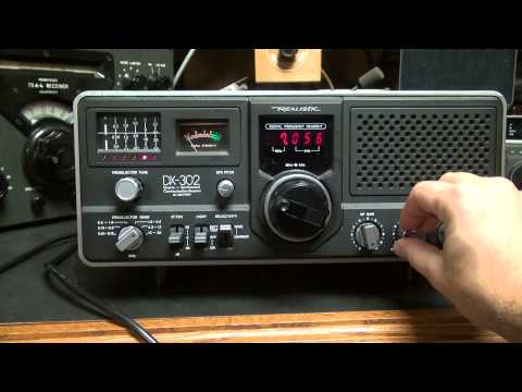 Realistic DX-302 Shortwave receiver Ham Radio Receiver Demo