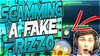 SCAMMING A FAKE RIZZO FOR WHITE ZOMBAS ON ROCKET LEAGUE!! SCAMMING A SCAMMER!! (SKIT)