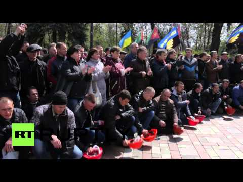Ukraine: Miners gather in Kiev as protests intensify