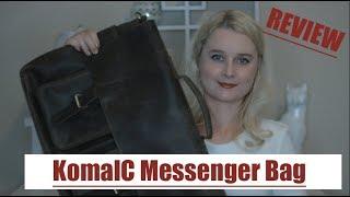 KomalC 18inch Retro Buffalo Leather Laptop Messenger Bag Review