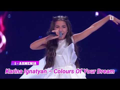 Junior Eurovision 2019 - Top 7 (So far)