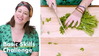 50 People Try to Mince Parsley | Epicurious