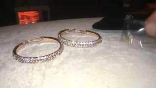 Zhenhui Large Gold Hoop Earrings