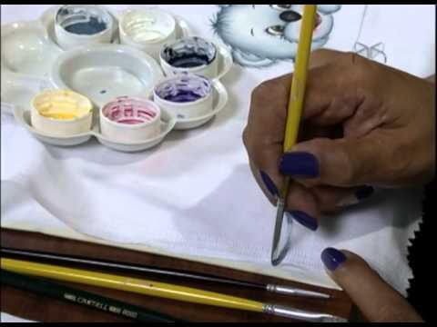 Mulher.com 21/01/2013 Filó Frigo - Pintura em fralda 1/2