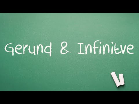Gerund and Infinitive Lesson