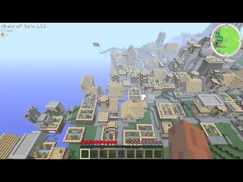 Minecraft 1.8.1 Huge Npc Village!