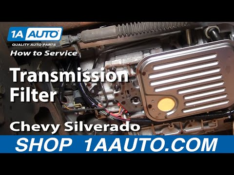 How To Service Transmission Filter Silverado Sierra 2500HD 6.0L 00-06 1AAuto.com