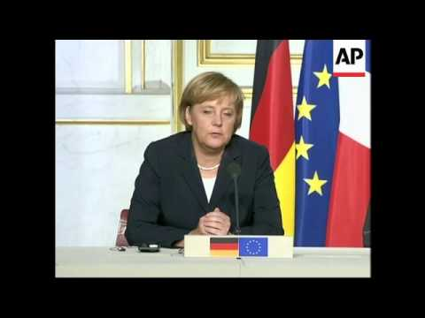 Merkel and Chirac give news conference on MidEast, Iran, Syria
