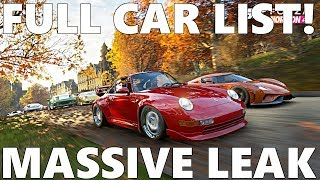 Forza Horizon 4: FULL CAR LIST LEAKED!! ALL CARS!
