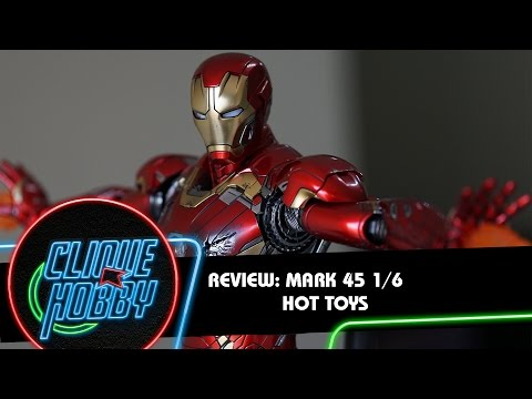 Review: MARK 45 - Hot Toys 1/6  Iron Man ( Homem de Ferro ) Action Figure PT BR boneco tony stark