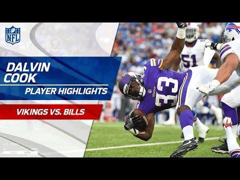 Every Dalvin Cook Touch Against Buffalo Vikings Vs Bills Preseason
