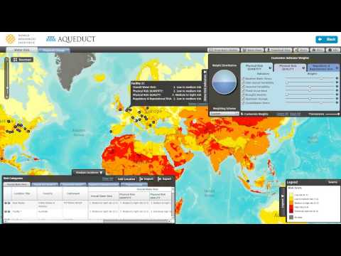 Blue Raster - Aqueduct Water Risk Atlas