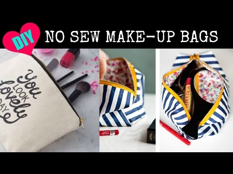 DIY NO SEW Make up Bags