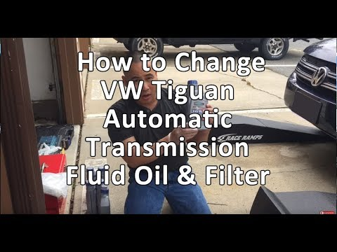 VW/Volkswagen Tiguan Automatic Transmission Fluid Oil & Filter Complete Instructions