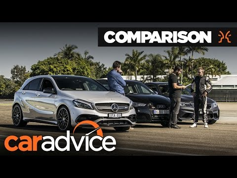 Comparison : Audi RS3 v BMW M2 v Mercedes-AMG A45 - Track battle   CarAdvice