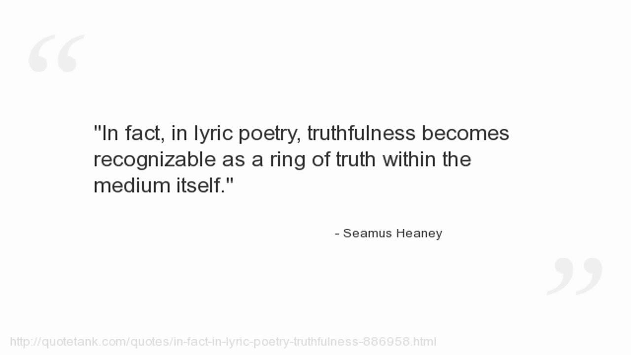 seamus heaney ancestral photograph poem interpretation Summer 2004, vol 17, no 3 59 rhyme in seamus heaney's group poems from 1963 to 1966 seamus heaney participated in philip hobsbaum's so-called belfast group, a writing workshop based on hobsbaum's own rig.