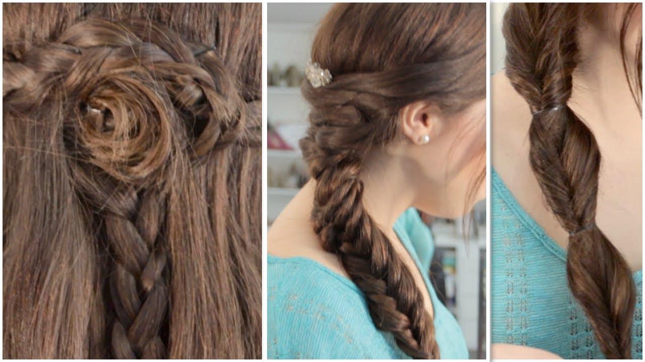 3 trenzas f ciles de hacer youtube - Peinados para ninas faciles de hacer ...
