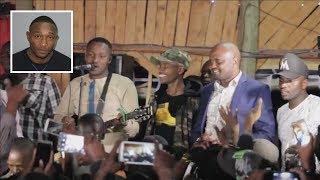 Moses Kuria dancing to Jose Gatutura, Samidoh & Sam Wa Kiambo live performance