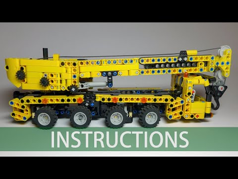 LEGO Technic small scale mobile crane building instructions