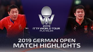 Xu Xin vs Fan Zhendong | 2019 ITTF German Open Highlights (Final)