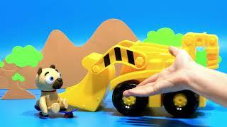 Puppy excavator Stop motion cartoon for children - BabyClay