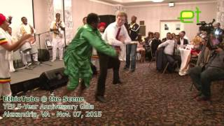 [Very Funny] Ethiopia:  American dude learns Gurage dance moves at YEP 5-Year Anniversary Gala