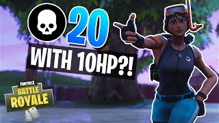 ALL I NEED IS 10 HP!! 20 Kill Win in Solos (Fortnite Battle Royale)