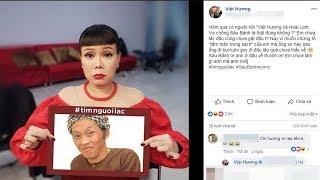 Việt Hương Khóc Nức Nở Đăng ảnh Tìm Hoài Linh mất tích Mấy Ngày Nay
