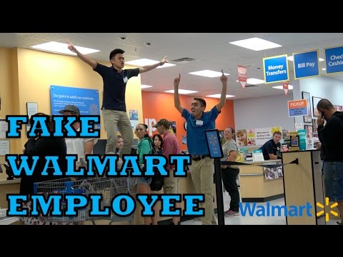 FAKE Walmart EMPLOYEE PRANK!!