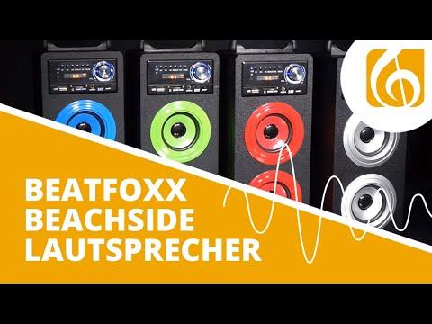 Beatfoxx Beachside portabler Bluetooth Lautsprecher USB, SD, AUX, UKW/MW