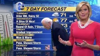 Action News Philadelphia WPVI-TV / 6ABC - Cecily Tynan loses earring, Jim Gardner hunts it down. 😂