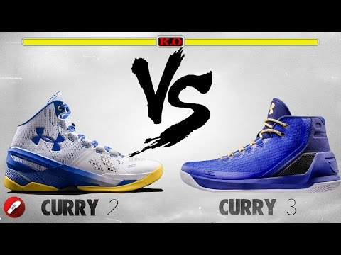 Under Armour Curry 2 vs Curry 3!