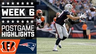 Bengals vs. Patriots | NFL Week 6 Game Highlights