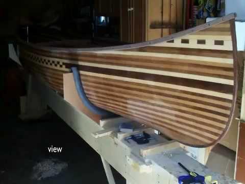 Prospector Wood Strip Canoe Build From The Book Canoe