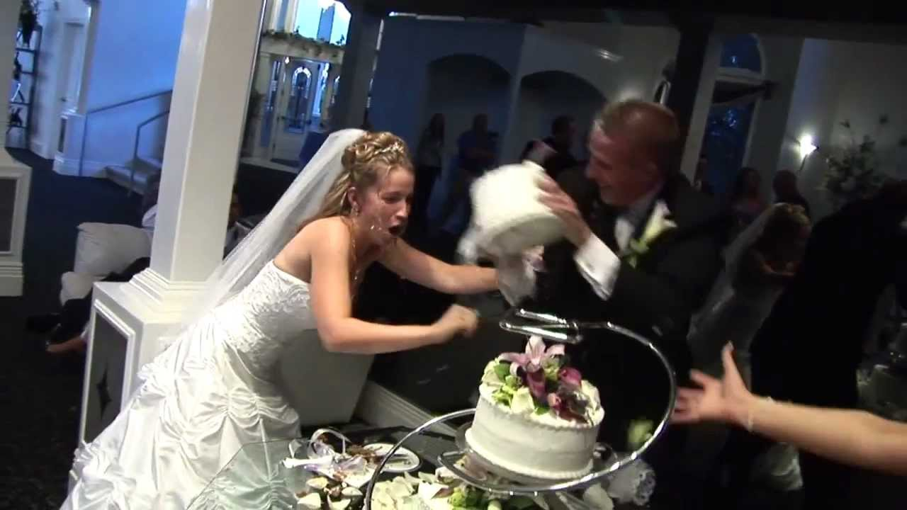 Wedding Cake Feeding Face