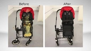 How to clean a filthy old stroller