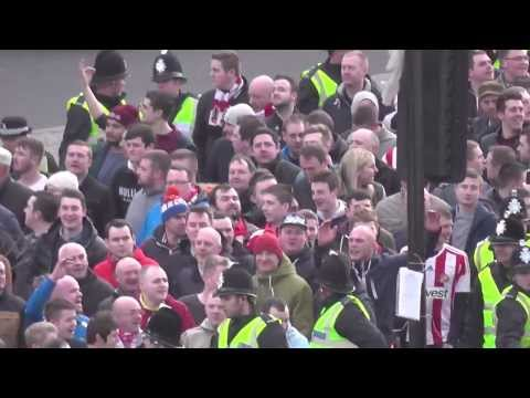 Geordies V Mackems Battle Before Newcastle 0-3 Sunderland 1st Feb 2014