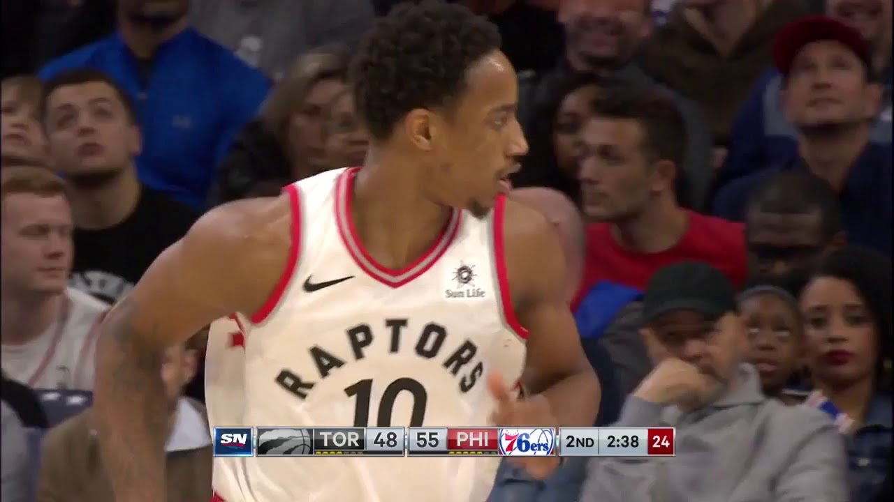 DeMar DeRozan Goes for 45 Points in Raptors Win over 76ers