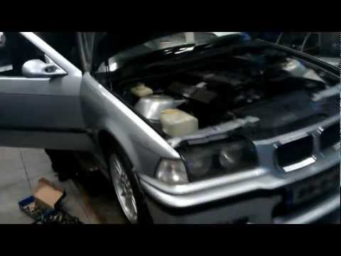 BMW e36 Compact (Kruciec) Swap 1.6 to 2.8.mp4