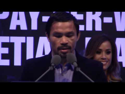Manny Pacquiao vs Chris Algieri POST FIGHT PRESS CONFERENCE
