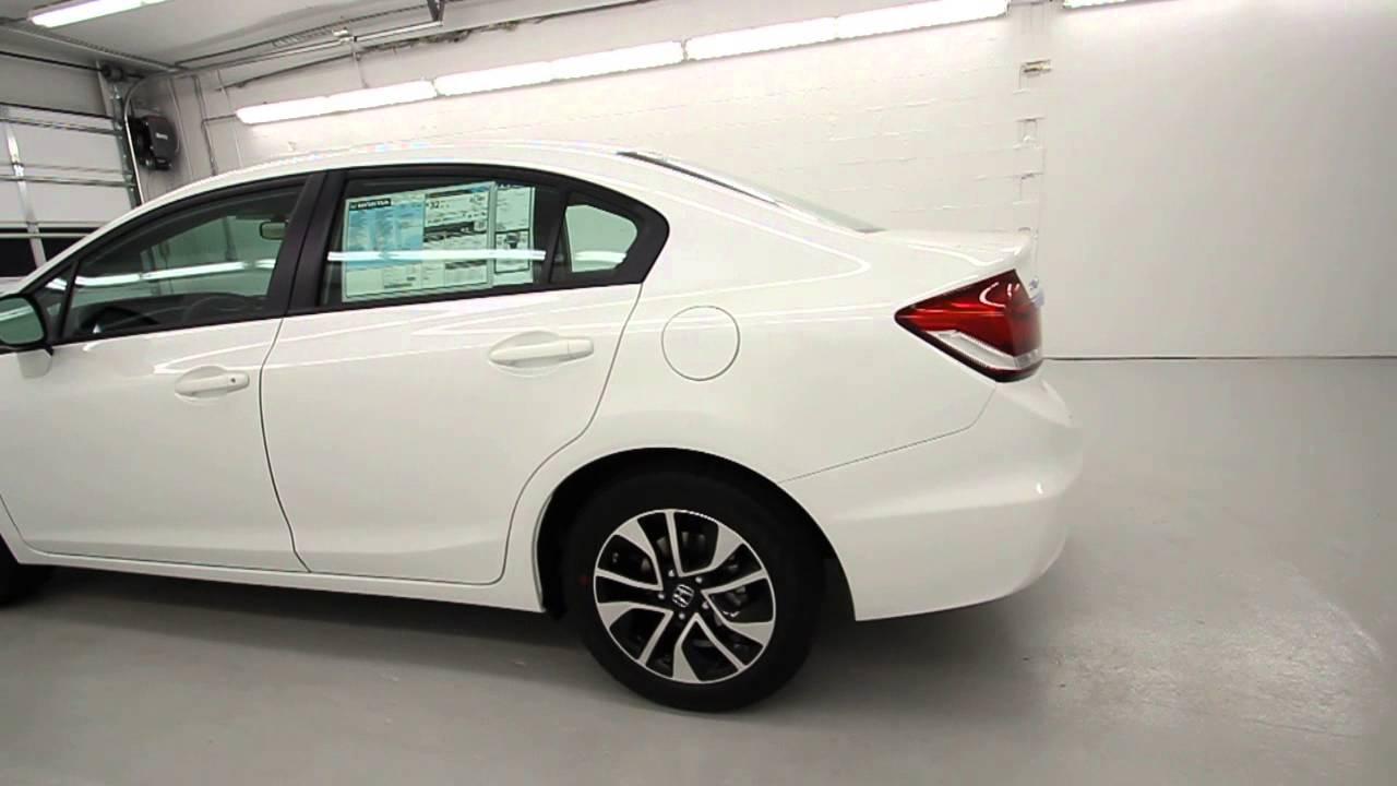 2013 Honda Civic Ex L White Orchid Pearl Stk De252844